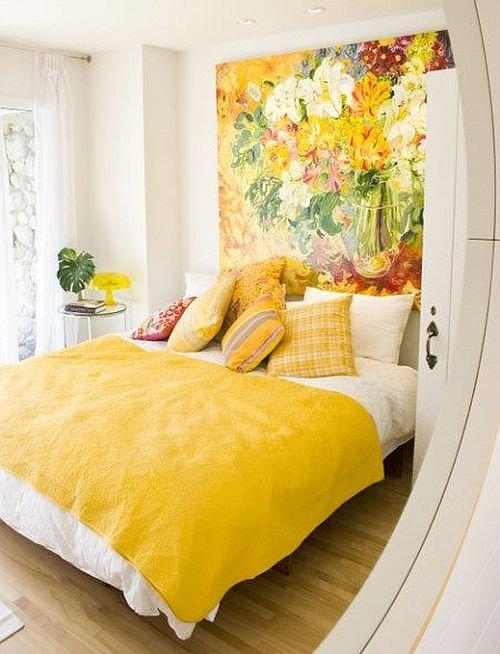 Фотография: Спальня в стиле Современный, Декор интерьера, Дизайн интерьера, Цвет в интерьере, Желтый – фото на INMYROOM