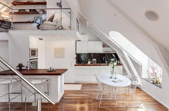 Фотография: Кухня и столовая в стиле Скандинавский, Современный, Квартира, Дома и квартиры – фото на INMYROOM