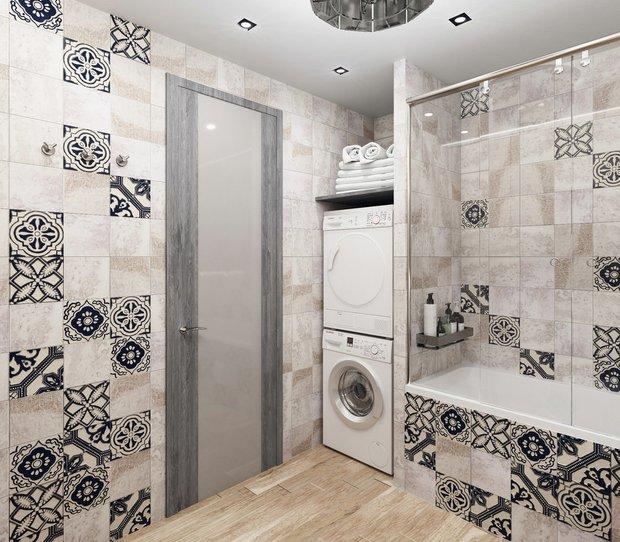 Фотография:  в стиле , Ванная, Советы, стиральная машина, где разместить стиральную машину – фото на INMYROOM
