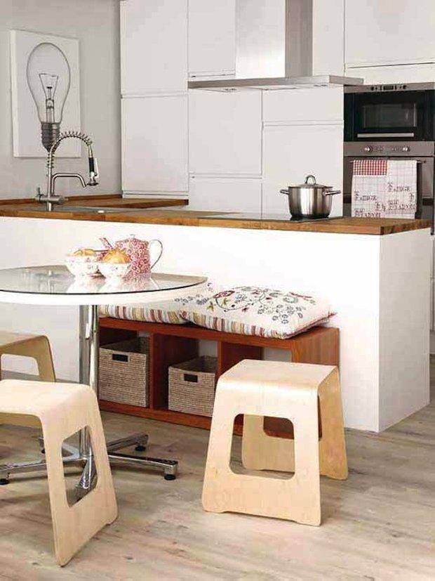 Фотография: Кухня и столовая в стиле Лофт, Интерьер комнат, Обеденная зона – фото на INMYROOM