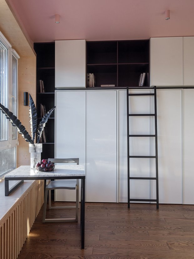 Фотография:  в стиле , Кухня и столовая, Квартира, Студия, Советы, до 40 метров – фото на INMYROOM