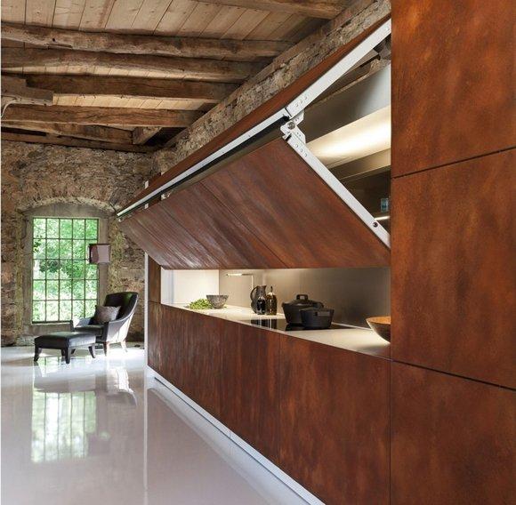 Фотография: Кухня и столовая в стиле Лофт, Современный, Хай-тек, Декор интерьера, Декор, CorTen, сталь-кортен, кортен – фото на INMYROOM