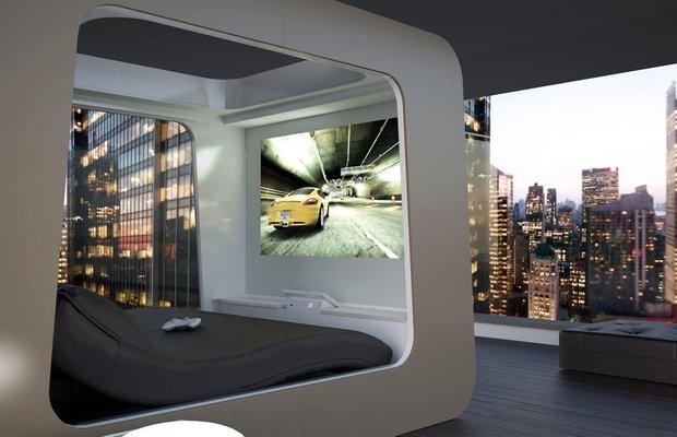 Фотография: Спальня в стиле Современный, Эклектика, Декор интерьера, Малогабаритная квартира, Мебель и свет, Готический – фото на InMyRoom.ru