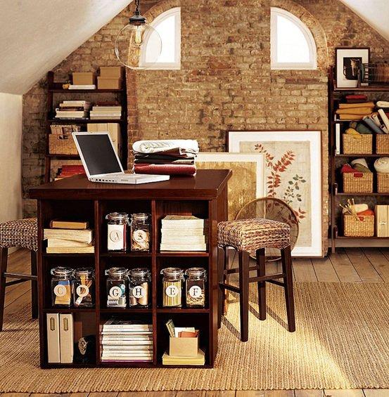 Фотография: Офис в стиле Лофт, Кабинет, Интерьер комнат, Системы хранения – фото на INMYROOM