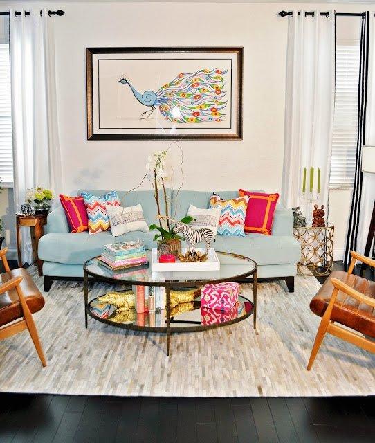 Фотография: Гостиная в стиле Восточный, Эклектика, Интерьер комнат, Переделка – фото на INMYROOM