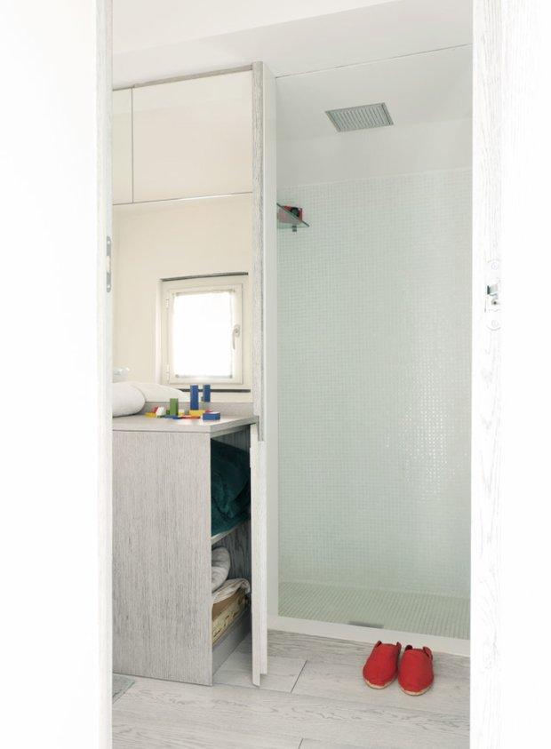 Фотография: Прихожая в стиле Лофт, Малогабаритная квартира, Квартира, Дома и квартиры – фото на InMyRoom.ru