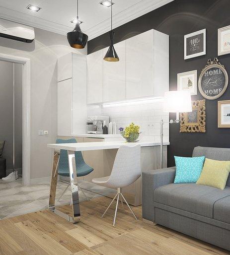 Фотография: Кухня и столовая в стиле Современный, Планировки, Советы – фото на INMYROOM