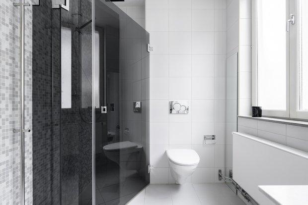 Фотография: Ванная в стиле Скандинавский, Минимализм, Современный, Декор интерьера, Квартира, Белый, Зеленый, Бежевый, 40-60 метров – фото на INMYROOM