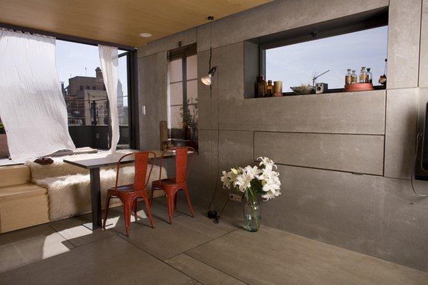 Фотография: Спальня в стиле Лофт, Скандинавский, Кухня и столовая, Интерьер комнат, Обеденная зона – фото на INMYROOM