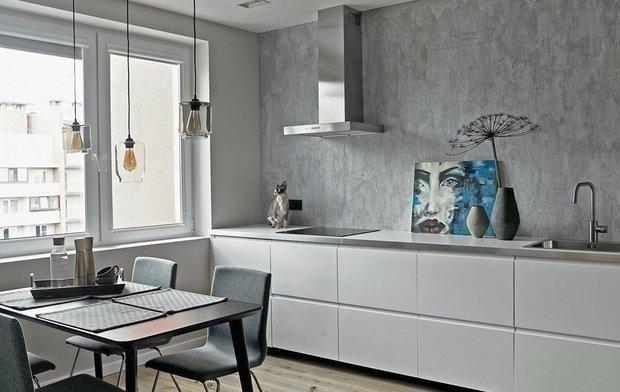 Фотография: Кухня и столовая в стиле Минимализм, Советы, Стены, Декоративная штукатурка, Dali decor, Dali-Decor – фото на INMYROOM