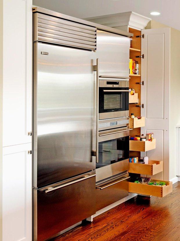 Фотография:  в стиле , Кухня и столовая, Советы, Системы хранения, хранение – фото на INMYROOM