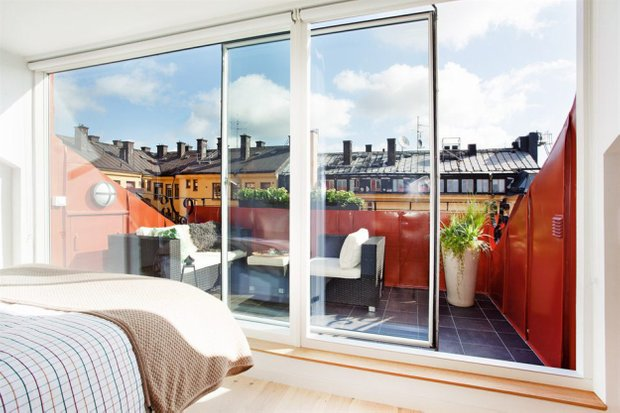 Фотография: Балкон, Терраса в стиле Скандинавский, Лофт, Малогабаритная квартира, Квартира, Дома и квартиры – фото на INMYROOM
