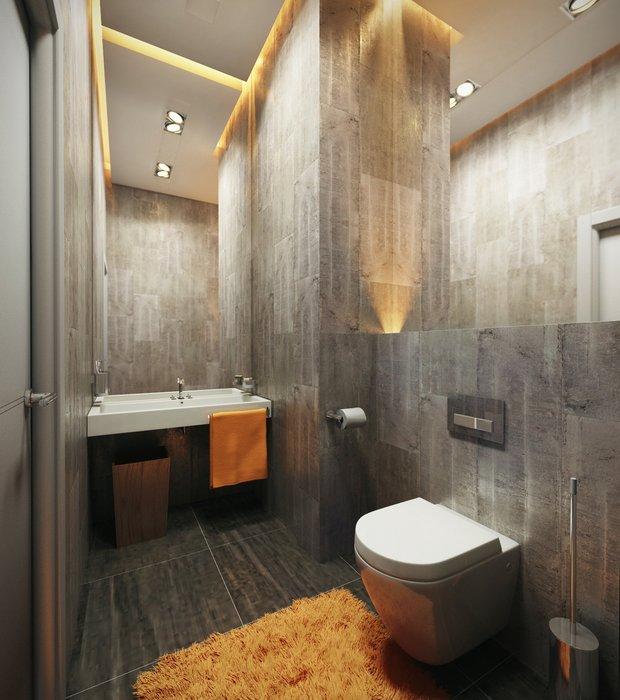 Фотография: Ванная в стиле Лофт, Планировки, Индустрия, События, Ремонт на практике – фото на INMYROOM