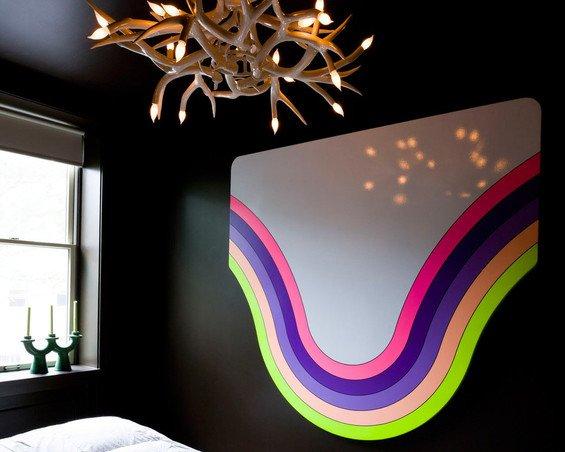 Фотография: Декор в стиле Современный, Малогабаритная квартира, Дизайн интерьера, Нью-Йорк, Диван, Декоративные панели – фото на INMYROOM