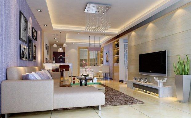 Фотография: Гостиная в стиле Современный, Интерьер комнат, Мебель и свет, Подсветка, Торшер – фото на INMYROOM