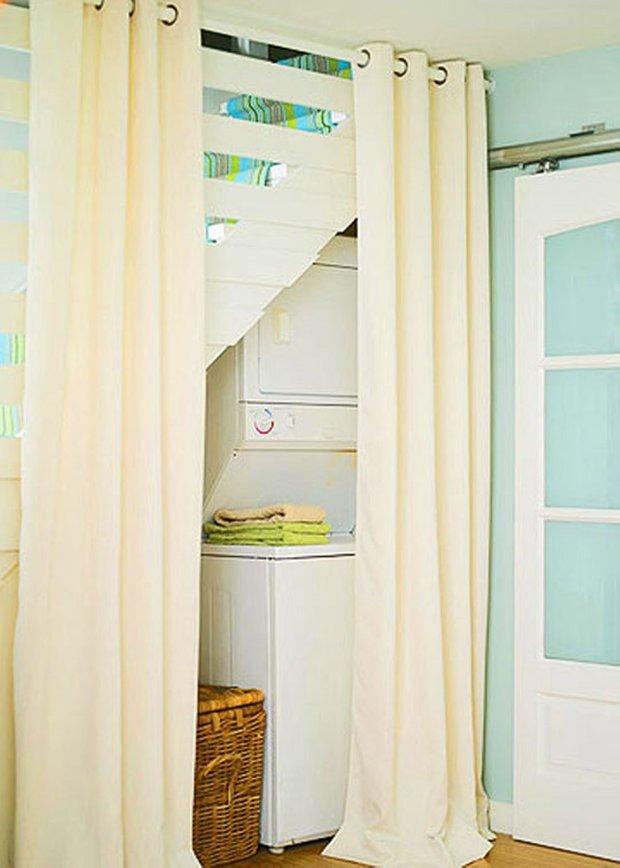 Фотография:  в стиле Современный, Декор интерьера, Дом, Декор дома, Системы хранения, Шторы – фото на INMYROOM