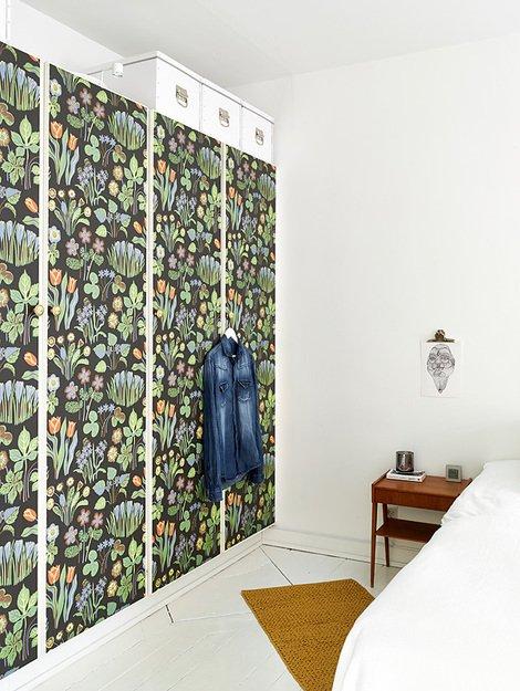 Фотография: Спальня в стиле Скандинавский, Декор интерьера, Квартира, Цвет в интерьере, Дома и квартиры, Стены, Пол – фото на INMYROOM