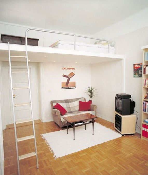 Фотография: Гостиная в стиле Лофт, Малогабаритная квартира, Квартира, Дома и квартиры – фото на INMYROOM