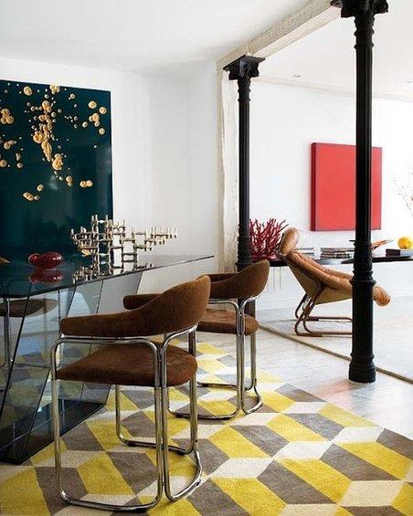 Фотография: Кухня и столовая в стиле Современный, Эклектика, Декор интерьера, Декор дома, Пол – фото на InMyRoom.ru