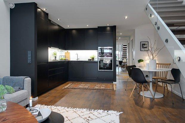 Фотография: Кухня и столовая в стиле Скандинавский, Современный, Квартира, Дома и квартиры, Стокгольм – фото на INMYROOM