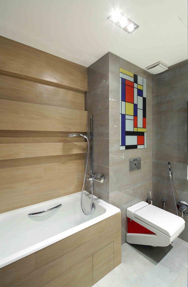 Фотография: Ванная в стиле Лофт, Современный, Эко, Эклектика, Квартира, Проект недели – фото на INMYROOM