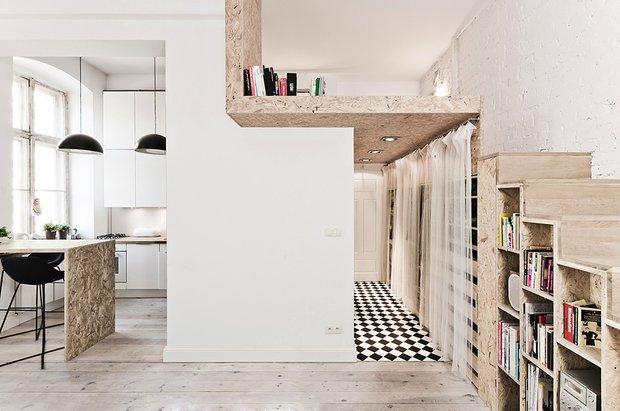 Фотография: Кухня и столовая в стиле Скандинавский, Современный, Малогабаритная квартира, Квартира, Дома и квартиры – фото на INMYROOM