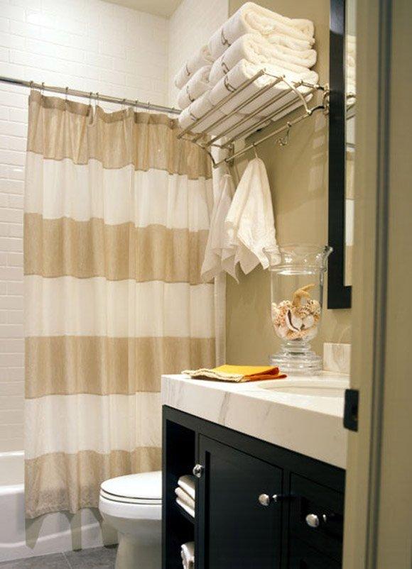 Фотография: Ванная в стиле Современный, Декор интерьера, Дом, Декор дома, Системы хранения, Шторы – фото на INMYROOM