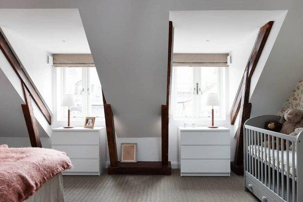 Фотография: Детская в стиле Скандинавский, Современный, Декор интерьера, Квартира, Белый, Бежевый, 3 комнаты, Более 90 метров – фото на INMYROOM