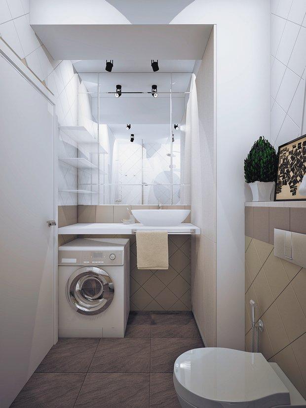 Фотография: Ванная в стиле Современный, Классический, Квартира, Планировки, Мебель и свет, Проект недели – фото на InMyRoom.ru