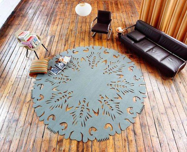 Фотография: Гостиная в стиле Лофт, Современный, Декор интерьера, Мебель и свет, Цвет в интерьере, Ковер – фото на INMYROOM