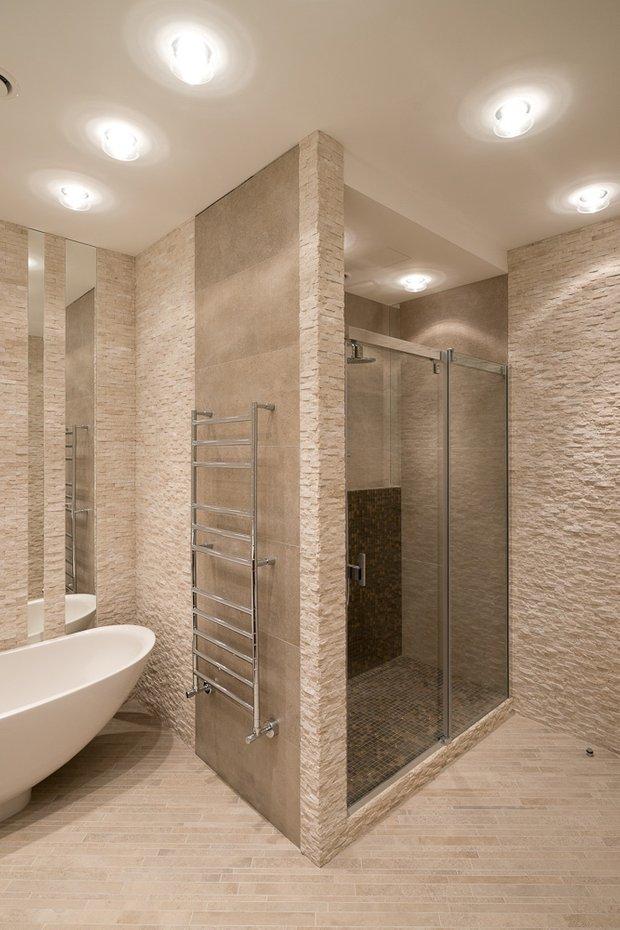 Фотография: Ванная в стиле Современный, Классический, Квартира, Проект недели, Москва, Бежевый – фото на INMYROOM