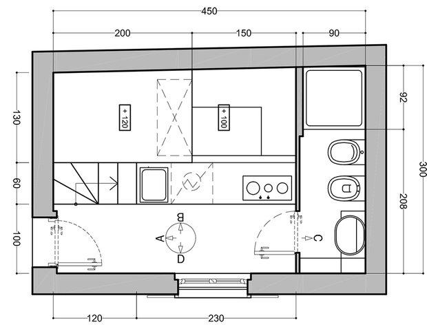 Фотография:  в стиле , Советы, Минимализм, как обустроить однушку, Сильвана Читтерио, кухня в однушке, гардероб в однушке, как организовать систему хранения в однокомнатной квартире, многофункциональный подиум – фото на InMyRoom.ru