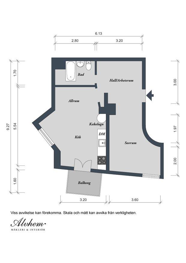 Фотография: Планировки в стиле , Скандинавский, Малогабаритная квартира, Квартира, Швеция, Мебель и свет, Дома и квартиры, Белый – фото на INMYROOM
