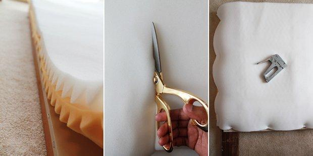 Фотография:  в стиле , Спальня, Декор интерьера, DIY, Советы, Bosch, zamo, мягкое изголовье, капитоне, мягкое изголовье своими руками – фото на INMYROOM
