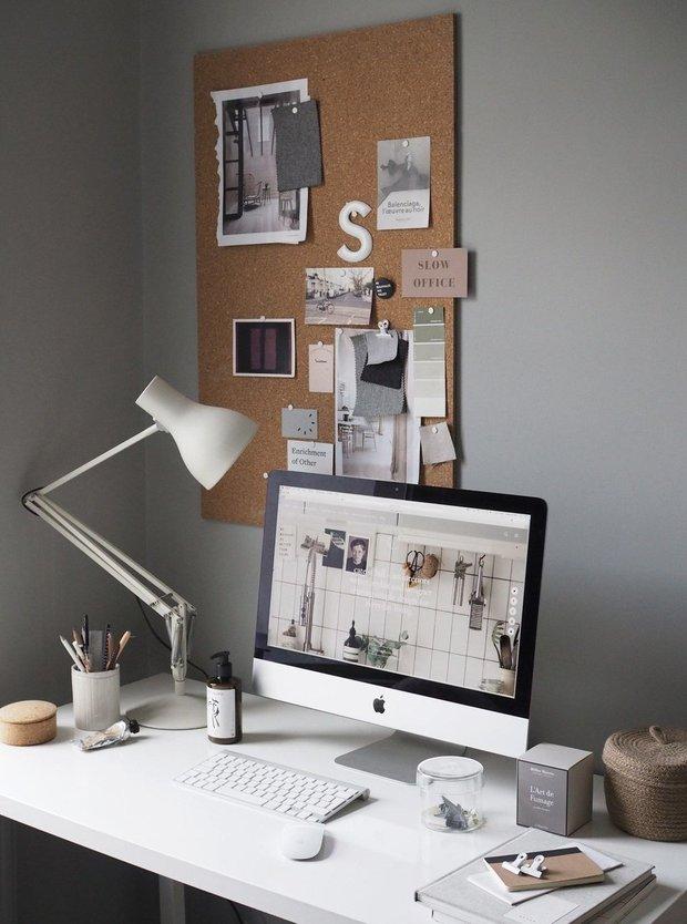 Фотография:  в стиле , Кабинет, Советы, домашний офис, как обустроить домашний офис, рабочее место в квартире, Анастасия Филимонова – фото на INMYROOM