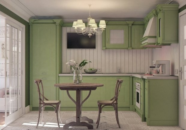 Фотография: Кухня и столовая в стиле Прованс и Кантри, Декор интерьера, Малогабаритная квартира, Квартира, Дома и квартиры – фото на InMyRoom.ru