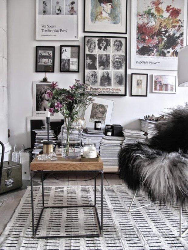 Фотография: Гостиная в стиле Лофт, Скандинавский, Флористика, Стиль жизни – фото на INMYROOM