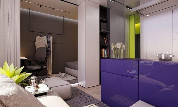 Фотография: Гостиная в стиле Современный, Декор интерьера, Малогабаритная квартира, Квартира, Студия – фото на INMYROOM