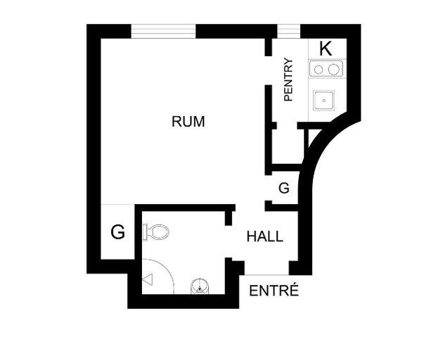 Фотография: Прочее в стиле , Скандинавский, Малогабаритная квартира, Квартира, Дома и квартиры, Стокгольм – фото на INMYROOM