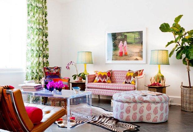 Фотография: Гостиная в стиле Эклектика, Декор интерьера, Текстиль, Шторы – фото на INMYROOM