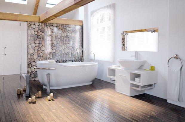 Фотография: Ванная в стиле Прованс и Кантри, Современный, Декор интерьера, Декор дома, Стены, Картины, Фотообои – фото на INMYROOM