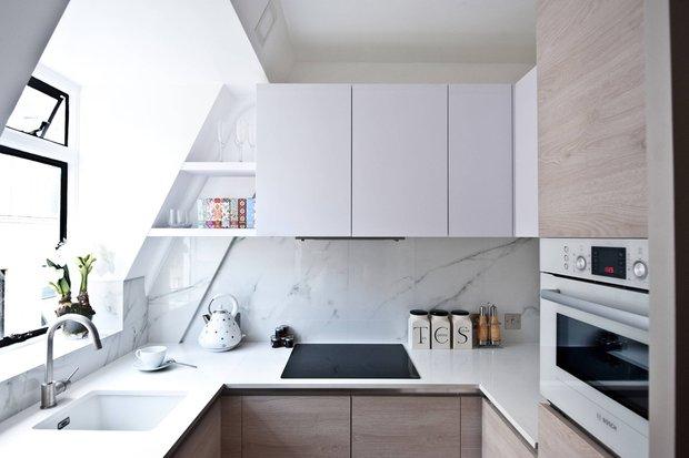 Фотография: Кухня и столовая в стиле Минимализм, Малогабаритная квартира, Советы – фото на INMYROOM