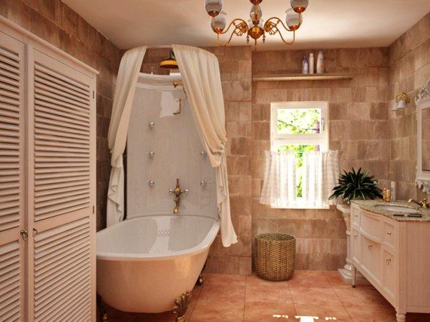 Фотография: Ванная в стиле Прованс и Кантри, Классический, Современный, Кухня и столовая, Дом, Дома и квартиры – фото на InMyRoom.ru