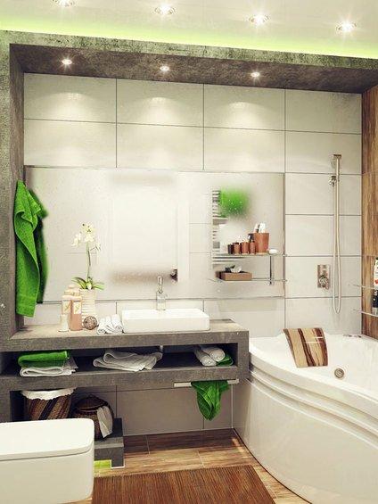 Фотография: Гостиная в стиле Эко, Ванная, Декор интерьера, Интерьер комнат – фото на INMYROOM