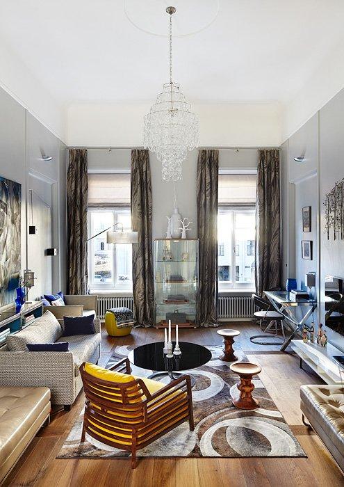 Фотография: Гостиная в стиле Восточный, Эклектика, Квартира, Дома и квартиры, Перепланировка – фото на INMYROOM