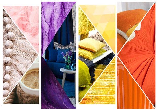 Фотография:  в стиле , Декор интерьера, Желтый, Синий, Оранжевый, выставка Maison & Objet 2015, обзор выставки Maison & Objet 2015 – фото на InMyRoom.ru