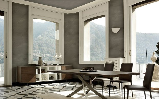 Фотография: Кухня и столовая в стиле Современный, Декоративная штукатурка, Гид, Loggia, декоративная отделка стен – фото на INMYROOM