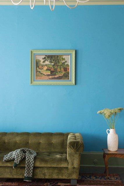 Фотография: Гостиная в стиле Современный, Декор интерьера, Дизайн интерьера, Цвет в интерьере, Краска – фото на INMYROOM