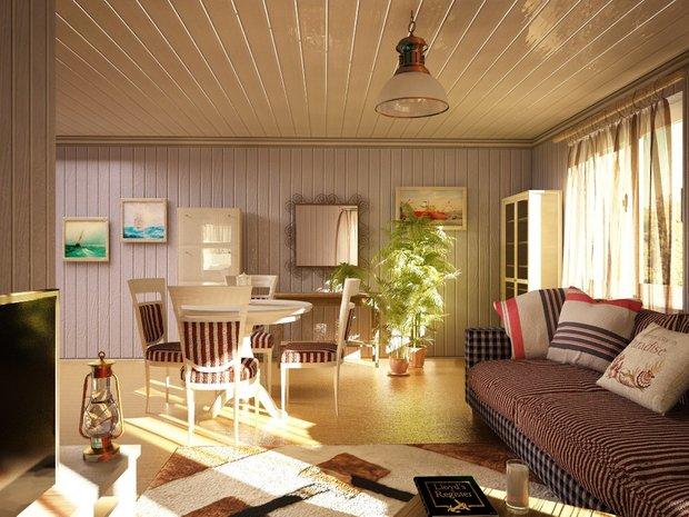 Фотография: Гостиная в стиле Прованс и Кантри, Современный, Дом, Дома и квартиры – фото на INMYROOM