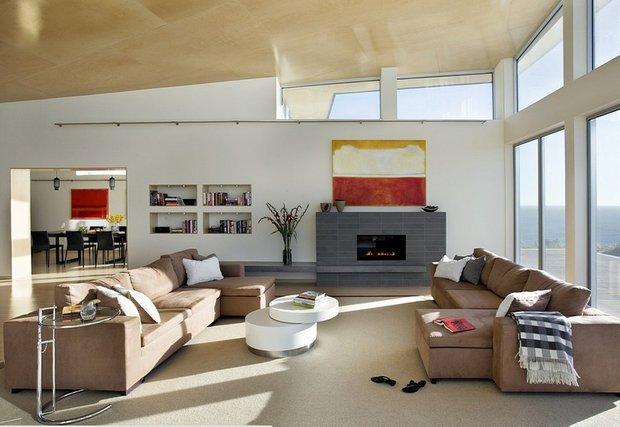 Фотография: Гостиная в стиле Современный, Дом, Архитектура, Ландшафт, Минимализм, Эко – фото на INMYROOM